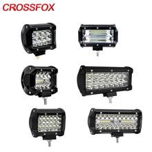 Crossfox worklight led 120 w 300 w 홍수 스폿 콤보 빔 36 w 60 w 72 w 오프로드 4x4 레벨 트랙터 suv에 대 한 작업 빛 램프 바 주도
