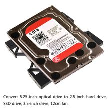 2021 New Desktop Chassis Optical Drive Bracket 5.25 to 3.5 inch 2.5 SSD Conversion Shelf