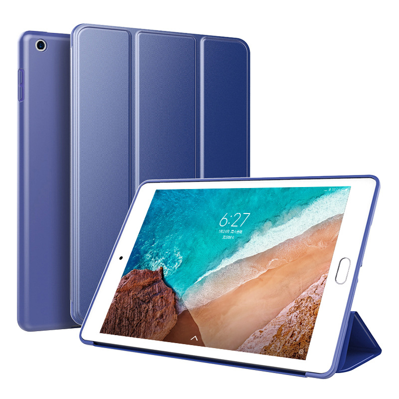 Navy Blue Navy Blue Trifold Leather Smart Case for iPad 10 2 7th generation 2019 Slim Translucent PC Back Cover