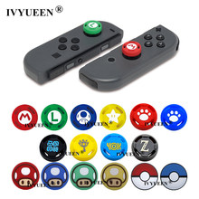 IVYUEEN-Funda de Joy-Con para Nintendo Switch Lite, con agarre para el pulgar, Animal Crossing, tapas con stick analógico, 2 uds.
