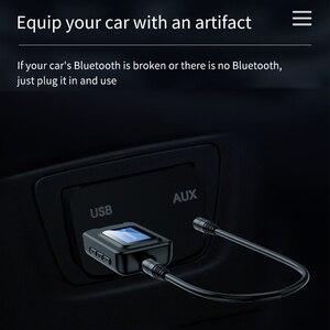 Image 3 - บลูทูธ 5.0 ตัวรับสัญญาณ LCD 3.5 มม.AUX แจ็ค USB ไร้สายอะแดปเตอร์เสียงสำหรับรถยนต์ PC ทีวีลำโพงหูฟังเพลง