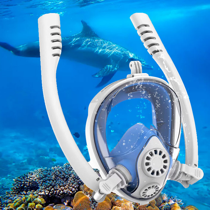 Women Scuba Diving Mask Full Face Snorkeling Mask Underwater Anti Fog Snorkeling Diving Mask For Swimming Spearfishing Dive Men(China)