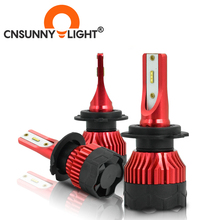 CNSUNNYLIGHT K5 H4 LED H7 H11 H8 H9 H1 ZES żarówki reflektorów samochodowych 9005 9006 H13 reflektor główne światła lepiej niż COB samochodowe lampy Led