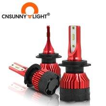 CNSUNNYLIGHT K5 H4 LED H7 H11 H8 H9 H1 ZES araba kafa lambası ampulleri 9005 9006 H13 far ana ışıkları daha iyi COB otomatik Led lambalar
