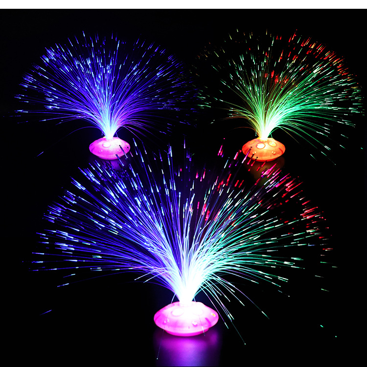 Stars Shine In The Dark Kids Toy Night 1PCS Color Optical Fiber Yarn Glowing Toys Flash LED Lights Glow In The Dark Kids Toys E