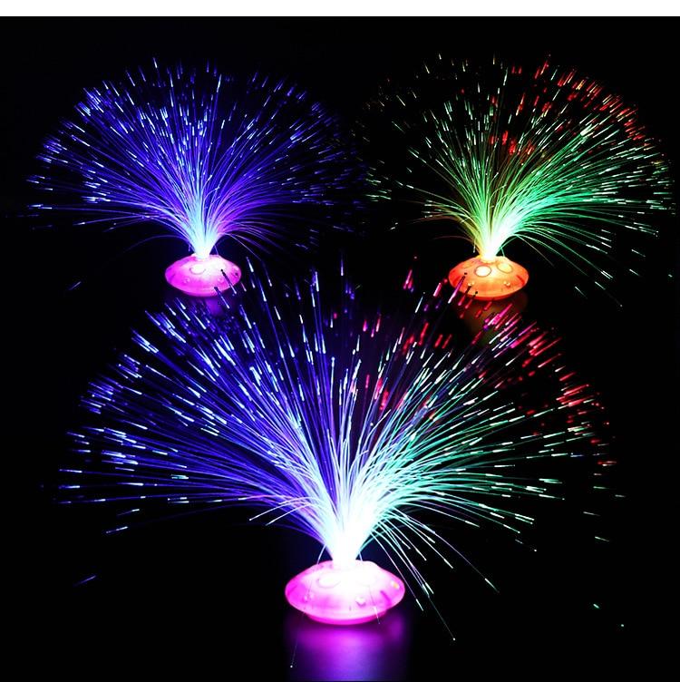 Stars Shine In The Dark Kids Toy Night 1PCS Color Optical Fiber Yarn Glowing Toys Flash LED Lights Glow In The Dark Kids Toys E