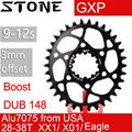 Catena di pietra anello Ovale Per SRAM Boost 148 DUB GXP 3 MILLIMETRI di Offset bb30 Montaggio Diretto X9 X0 XX1 X01 28 30T 32 34T 36T 38 Bici Ruota di catena