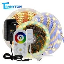 La bande de LED à distance de RF allume 5M rvb/RGBW/RGBCCT 5050 Diode imperméable de ruban Flexible de SMD avec l'alimentation d'énergie de 12V 3A