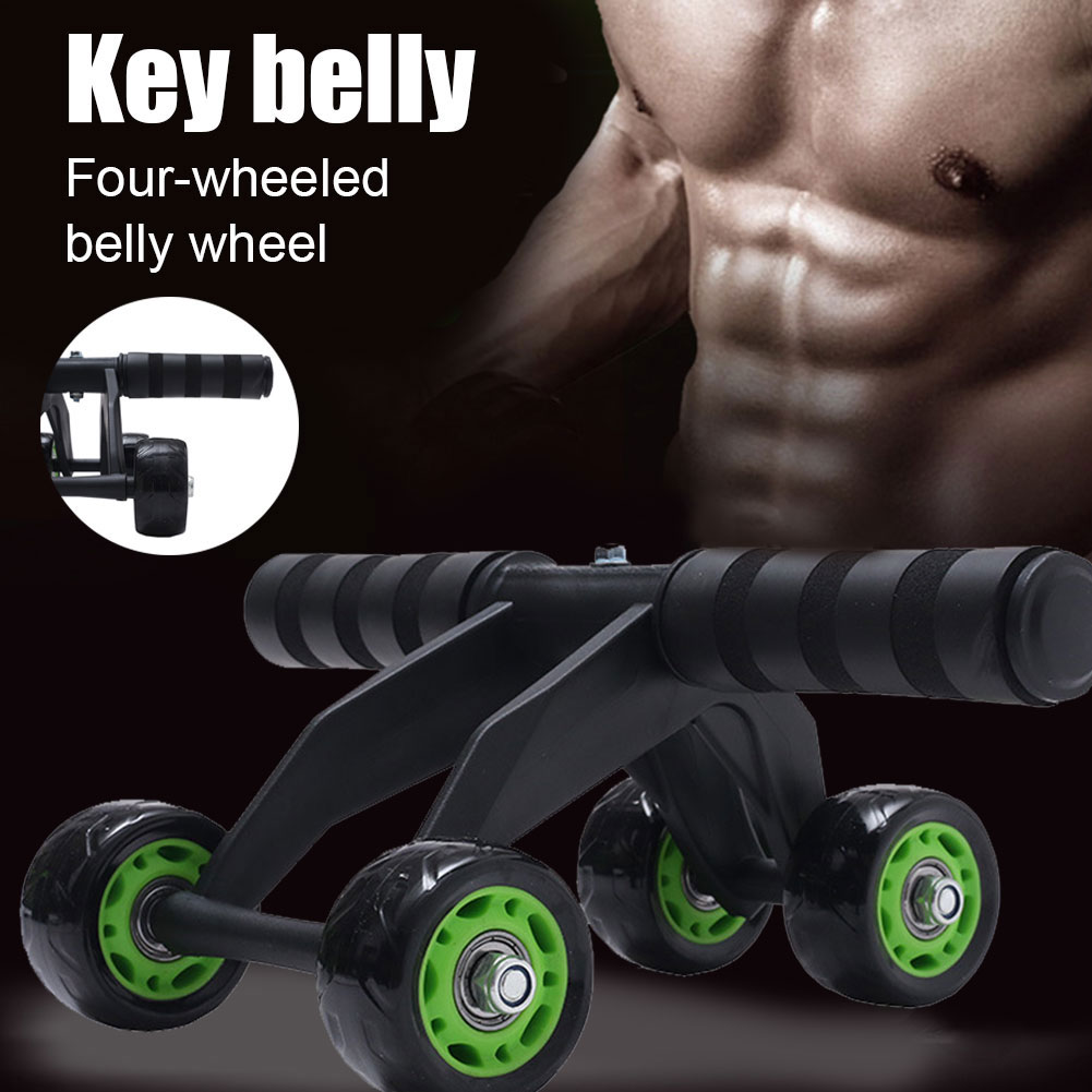 Roller Wheel Exercise Fitness Equipment 4 Wheels Abdominal Workout Belly Trainer YA88