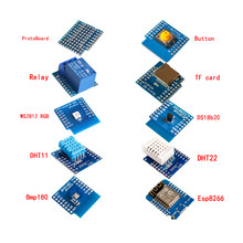 Esp8266 D1 Mini Pro Wifi Development Board Nodeu Ws2812 Rgb Dht11 Dht22 Am2302 Relais Ds18b20 Bmp180 Motor Voor Wemos Diy kit