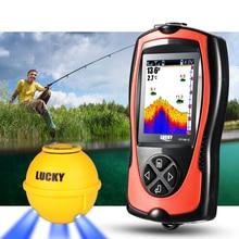 LUCKY 45 м детектор глубины эхолот портативный эхолот рыболокаторы привлекательная лампа рыболовный искатель красочный экран FF1108-1CWLA