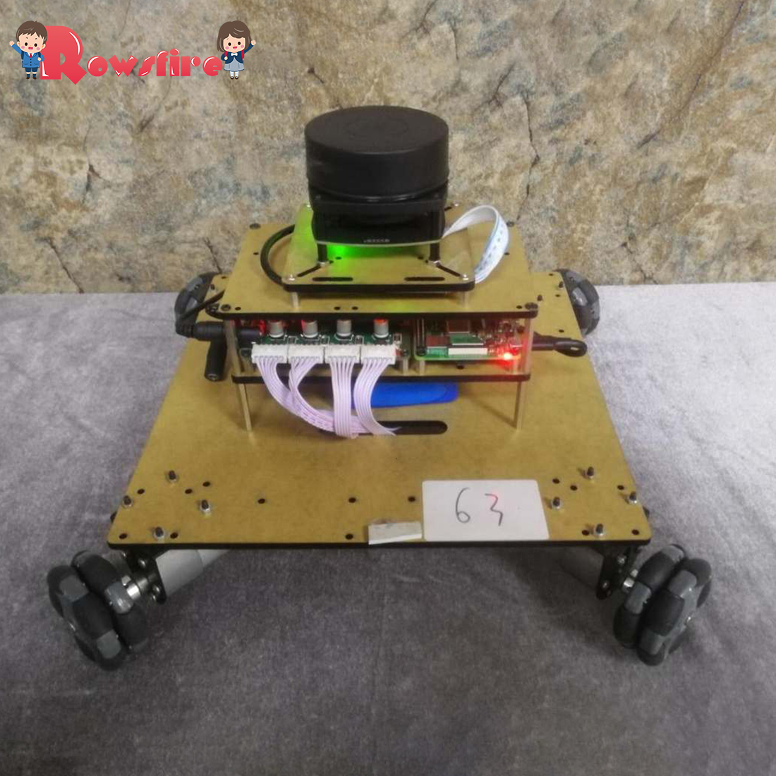 Super Quality Robot Operating System Ailibot Omnidirectional Robot Car Kit - 04 Version