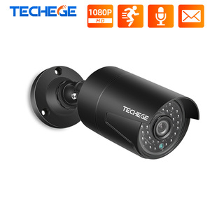 Image 1 - Techege 2MP 48V POE ip camera Audio Record Night Vision Waterproof IP66 Outdoor P2P ONVIF Motion Detection IP Cam for CCTV NVR