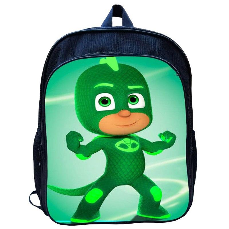New PJ Student Backpack Mask Juguete Kid Bag Kindergarten 13 Inch Backpack Cartoon Masks Kids Toys For Children Gift S51