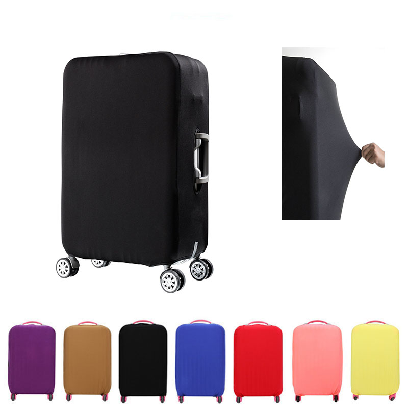 Solid Color Elastic Cloth Travel Suitcase Dust Cover  For 19-32 Inch Luggage Protective Cover Dust Cover Travel Accessories