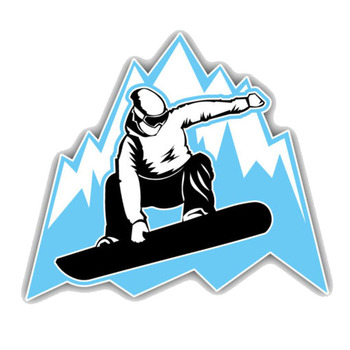 Dawasaru Snowboarder Mountain Jumping Car Sticker Personality Decal Laptop Motorcycle Auto Accessories Decoration PVC,12cm*11cm