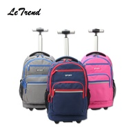 New Trolley Backpack Waterproof School Student Trolley Bag Luggage Computer Layer Multi function Pocket Boarding Travel Bag