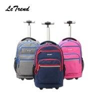 New Trolley Backpack Waterproof School Student Trolley Bag Luggage Computer Layer Multi function Pocket Boarding Travel Bag
