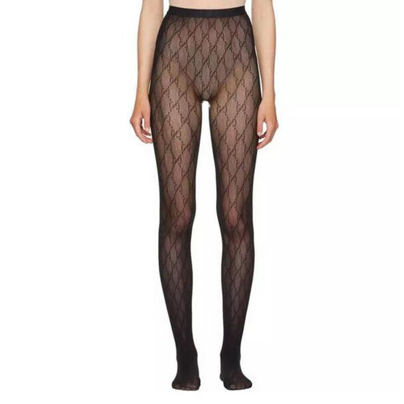 2020 Popular Women Letter Brand  Tights With Elasticity Pantyhose For Free Size