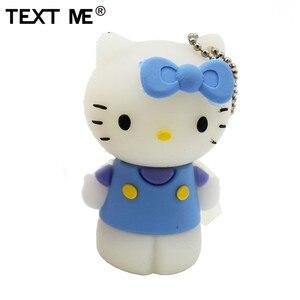 Image 3 - Tekst Me Rood Pinl Bule Gree Geel Kleur Schattige Hello Kitty Schoen Usb Flash Drive Usb 2.0 4Gb 8gb 16Gb 32Gb 64Gb Pendrive Gift