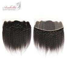 Бразильские прямые волосы яки 13x4 с фронтальной шнуровкой, плотность 150%, 1 шт., натуральные волосы remy, фронтальная кружевная застежка, Арабелла