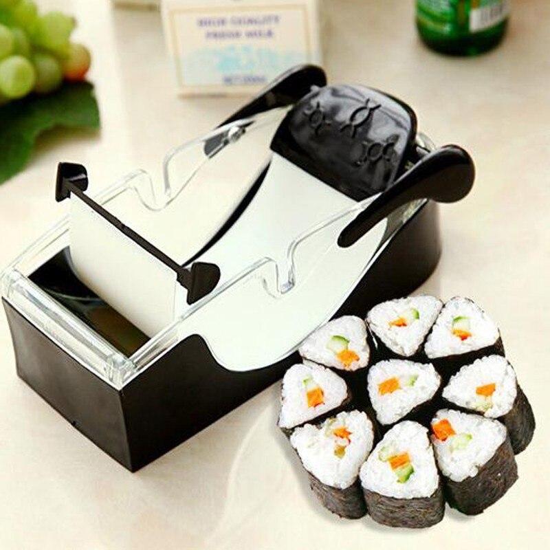 Sushi Rice Tools Machine Kit Nori Tool Roller Stuffed Garpe Cabbage Vegetable Meat Rolling Tool Set For Japanese Food Onigiri