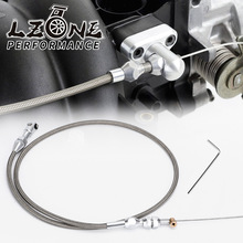 36Inch Throttle Gas Cable Kit Stainless Steel Braided For 97-07 Chevrolet/Chevy LS1 Engine 4.8L 5.3L 5.7L 6.0L TCB02