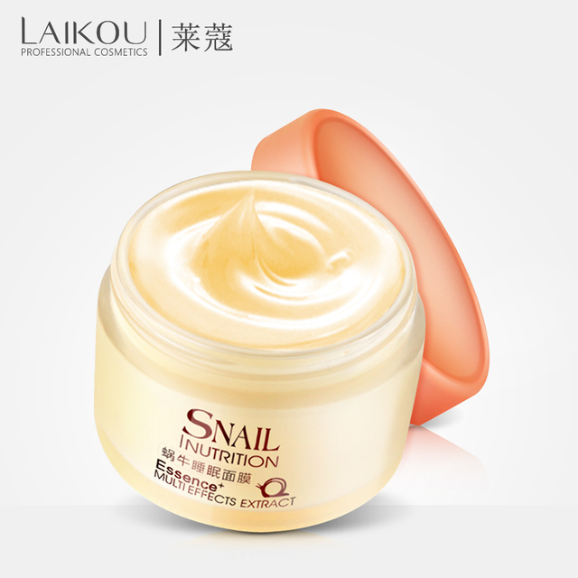 LAIKOU Snail Sleeping Mask Korean Cosmetics Face Treatment  Moisturizing Eyes Nourish Oil control Whitening  Night Cream