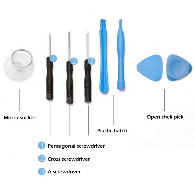 11 in 1 Cell Phones Opening Pry Repair Tool Kits Mobile Phone Screwdriver Spudger Repair Hand Tool Set for iphone Samsung Sony