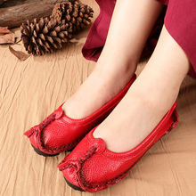 Female shoes oxford flats women genuine leather flats 2020 superstar loafers mom summer shoes woman leather flats