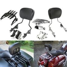 купить Motorcycle Detachable Backrest Sissy Bar Luggage Rack For Harley Road King Street Glide Electra Glide Standard CVO 2009-2020 18 дешево