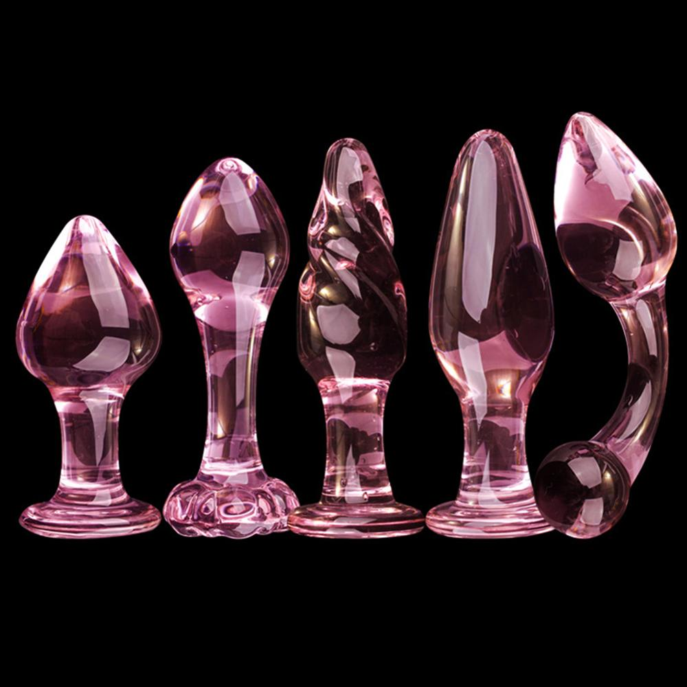 12mm Glass Butt Plug Anal Bead Fake Penis Dildo Adult Sex Toy for Women Men Drop Ship