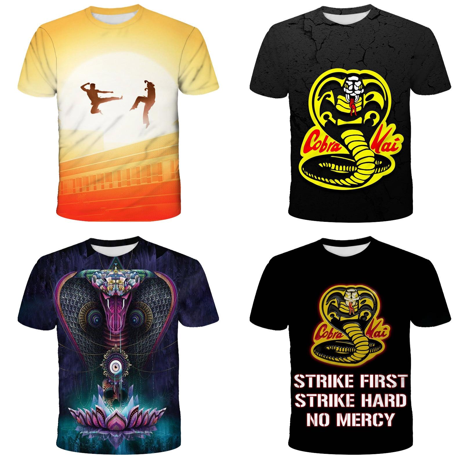 Cobra Kai T Shirt Boys Avatar Tshirt Girs Summer Top Tshirts Short Sleeves Tees Black kids T-Shirt Clothes Girl 10 Years