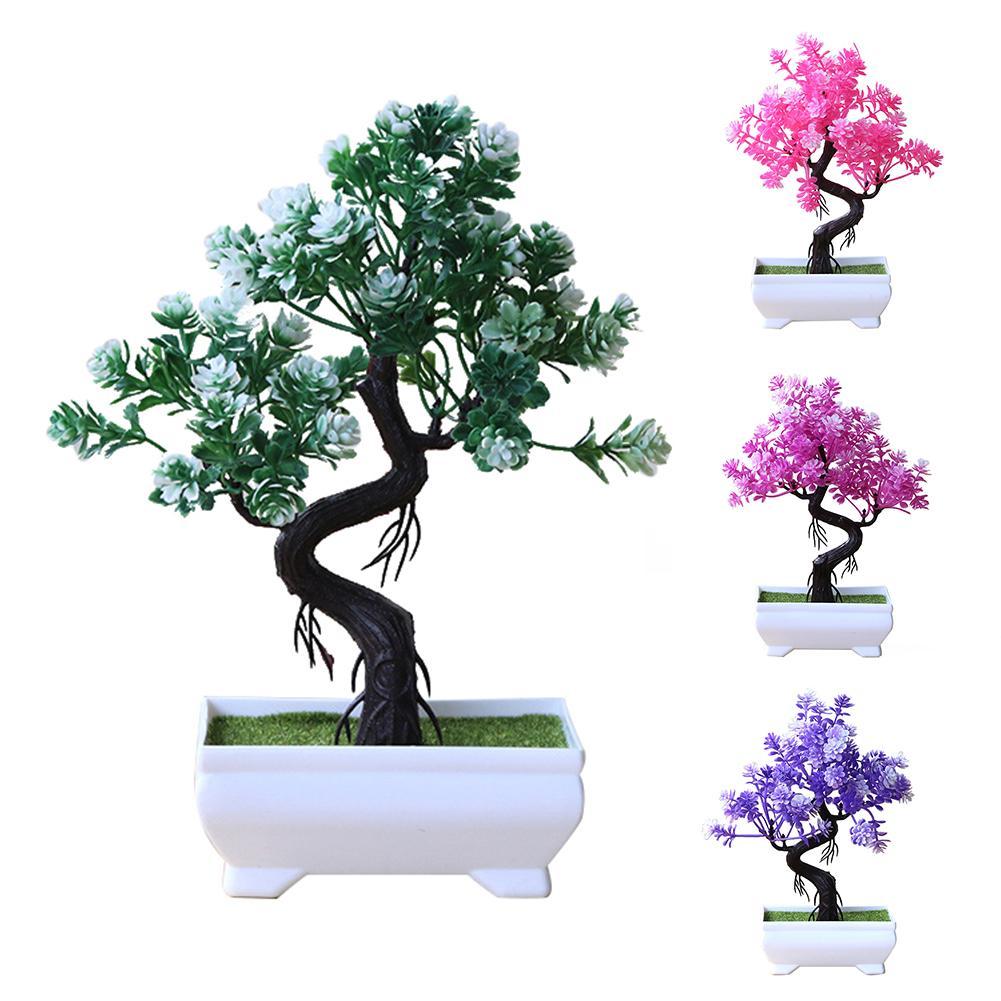 Искусственное дерево в горшке, декоративный бонсай, имитирующий растение, домашний офис, Декор, стол, центральные части, подарок, украшение ...