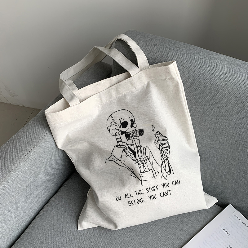 Cartoon-Shark Womens Canvas Hobo Handbags Shoulder Bag Tote Bag