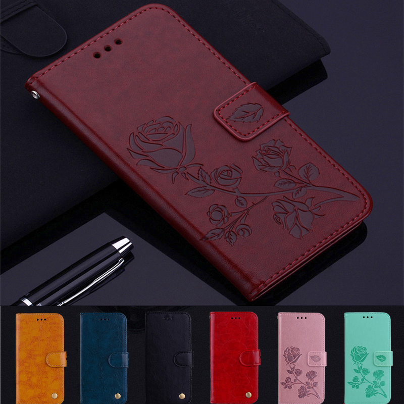 Rose Leather Case For <font><b>Alcatel</b></font> 1 1C 1X 1S 3L 3C 3V 3X U5 5V 5A Pixi 4 5059Y 5024d <font><b>5008Y</b></font> 5046d 5033D 5033Y 5009D 5059D Phone Case image
