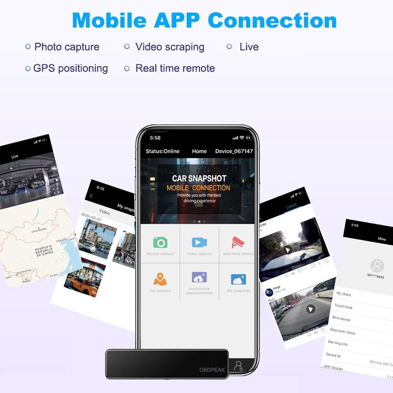 "OBEPEAK D80 12"" Car DVR Rearview Mirror 4G Android 8.1 Dash Cam GPS Navigation ADAS Full HD 1080P Car Video Camera Recorder DVRS 5"