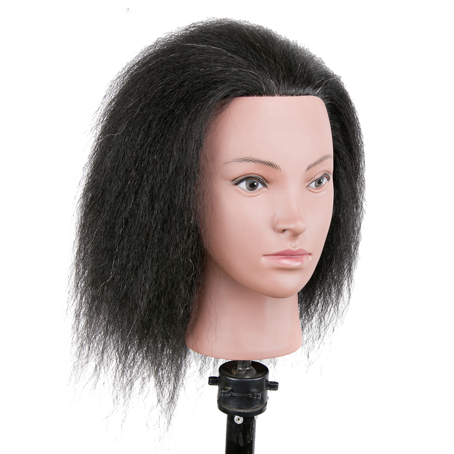 Afro hairdressing mannequin head for barber practice hair styling with mixed human hair dummy hair style salon training head