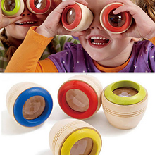 Горячая Распродажа детская деревянная магический эффект калейдоскоп деревянная обучающая развивающая головоломка, игрушка мультипризма наблюдение красочный мир