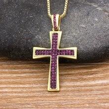 Классическое ожерелье в виде креста с искусственным кристаллом