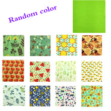 Reusable Beeswax Cloth Wrap Food Fresh Bag Lid Cover Stretch Lid Jungle Party Bees wax wrap plastic wrap for Sandwich Cheese(China)