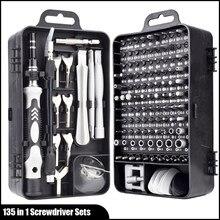 135 en 1 Multi Mini outils de réparation à main tournevis de précision et clés avec étui de transport pour Apple téléphone montre ordinateurs portables