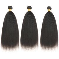 Kinky Straight Hair Human Hair Bundles Remy Hair Extension Brazilian Hair Weave Bundles MIHAIR Natural Color