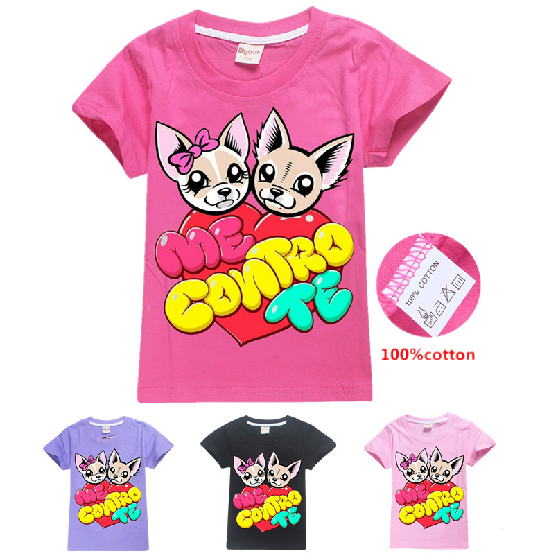 ME CONTRO TE Cartoon Hoodie Baby Girls T Shirts Children Clothing Kids T Shirt Clothes Boys Cotton Costume Christmas T Shirt