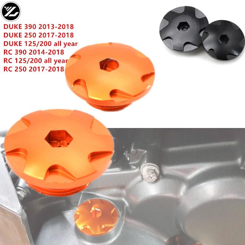 2pcs Motorcycle Engine Plug Cover Camshaft Oil Covers For KTM DUKE 125 200 390