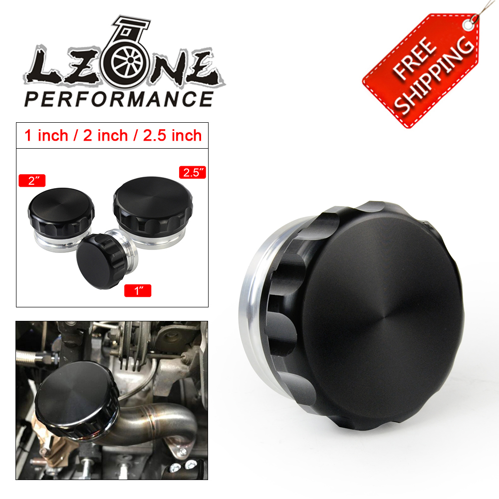"""FREE SHIPPING - 2.5""""/63.5mm 2""""/50.8mm 1"""" /25.4mm Aluminum Alloy Weld Billet On Filler Neck And Cap Oil Fuel Water Tank Black DRC(China)"""