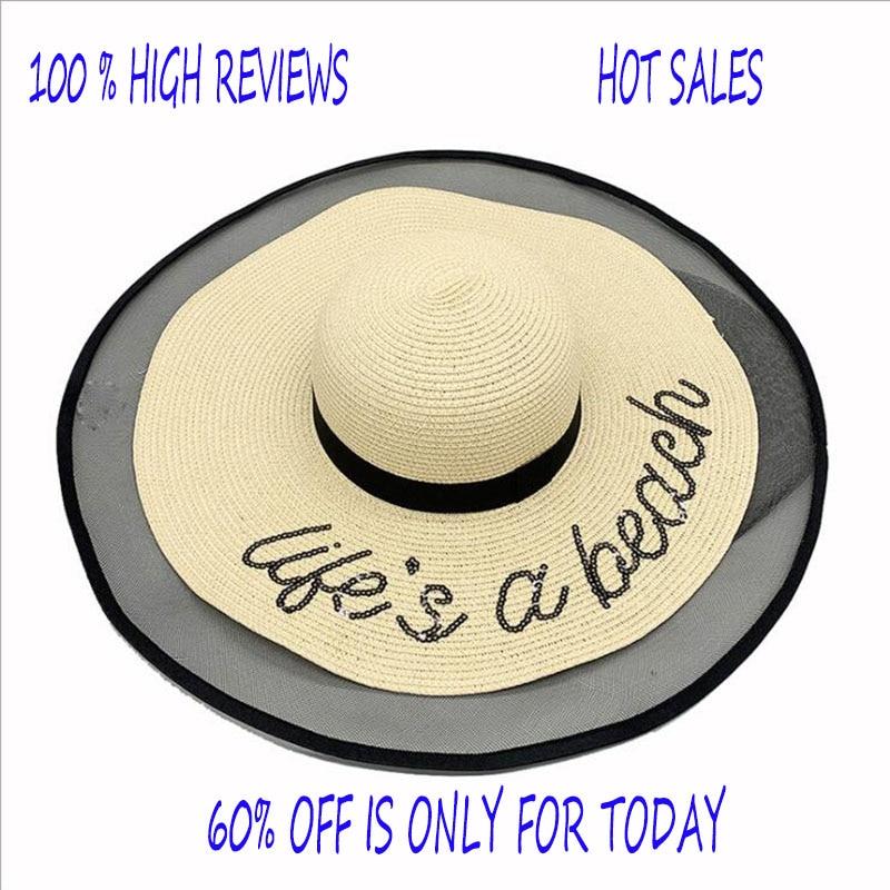 2021 Summer hat big brim hat with net edge hats for women sun hat nice cool women's summer hat high quality popular women's hat
