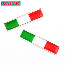 DSYCAR – autocollants en métal drapeau National d'italie, 1 paire, badges autocollants pour accessoires de moto, style de voiture