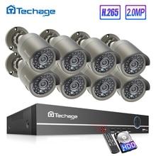 Techage 8CH 1080P POE NVR CCTV System Indoor Outdoor IP66 Waterproof IP Camera P2P Cloud Service Home Security Surveillance Kit