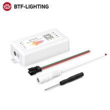 SP107E LED denetleyici Bluetooth piksel IC SPI müzik için telefon APP tarafından LPD8806 WS2812 SK6812 SK9822 RGBW APA102 şerit DC5 24V